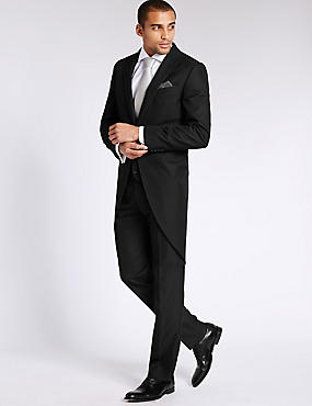 Black Tailored Morning 3 Piece Suit