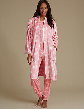 Pyjamas Set with Shimmer Dressing Gown