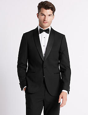 Big & Tall Black Tailored Fit Suit, , catlanding