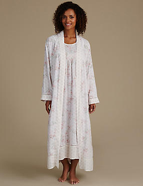 Pure Modal Floral Print Dressing Gown & Nightdress Set