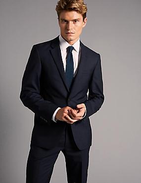 Big & Tall Tailored Fit Italian Wool Suit, , catlanding