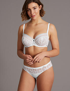 Embroidered Non-Padded Set with Full Cup DD-G