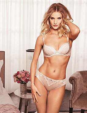 Beau Silk & Lace Set with High Apex Plunge A-E
