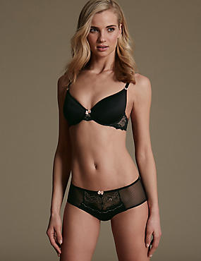 Lace Set with Underwired Padded Spacer Full Cup A-E