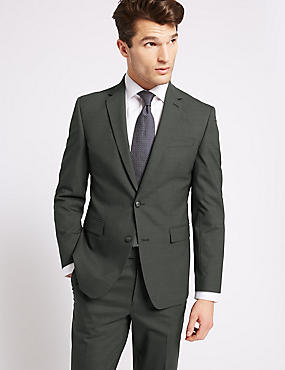 Charcoal Textured Slim Fit Suit, , catlanding