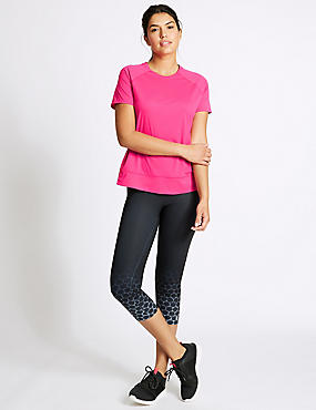 Short Sleeve T-Shirt & Quick Dry Leggings Outfit, , catlanding