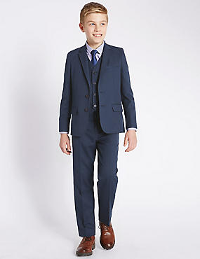 Classic Notch Lapel 2 Button Suit Including Waistcoat (5-14 Years)