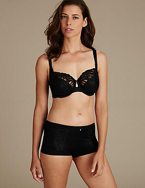 Embroidered Set with Non Padded Wired Full Cup (DD-H)