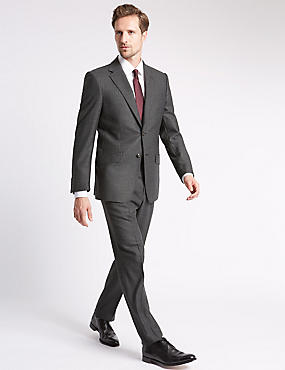 Charcoal Striped Regular Fit Suit