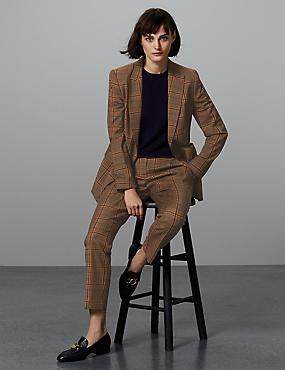 Wool Blend Blazer & Trousers Suit Set, , catlanding
