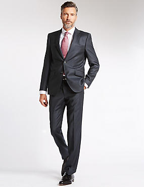 Charcoal Striped Tailored Fit Suit