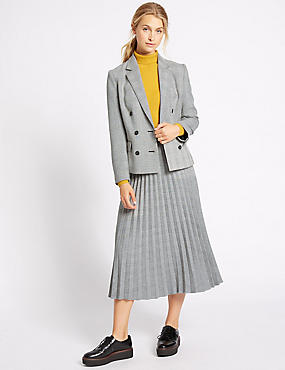 Checked Jacket & Skirt Set