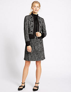 Textured Tweed Jacket & Skirt Set