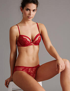 Dentelle Lace Set with Padded Balcony A-E