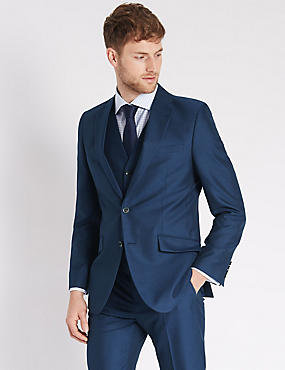 Indigo Slim Fit 3 Piece Suit