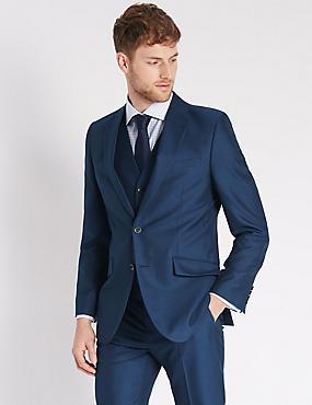 Indigo Slim Fit 3 Piece Suit, , catlanding