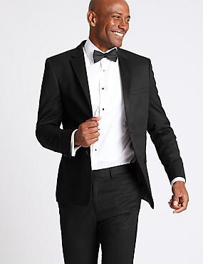 Black Modern Slim Fit Suit, , catlanding