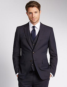 Blue Slim Fit 3 Piece Suit