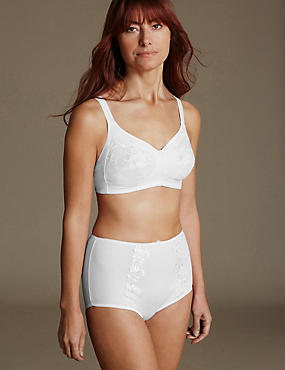 Embroidered Set with Total Support Non-Wired Balcony B-G
