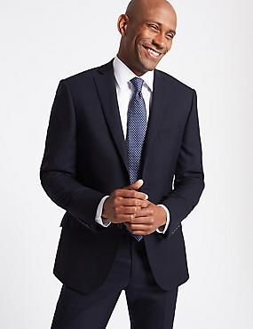 Big & Tall Navy Slim Fit Wool Suit, , catlanding