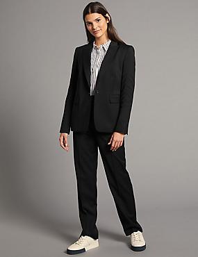Wool Blend Blazer & Trousers Suit Set , , catlanding
