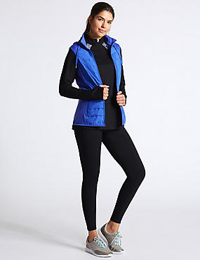 Padded Gilet Outfit with Top & Leggings Outfit, , catlanding