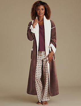 Long Sleeve Dressing Gown with Pyjama Set