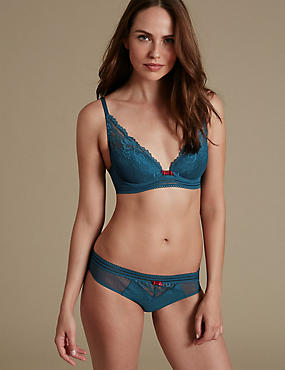 Artisan Lace Set with Plunge Padded A-E