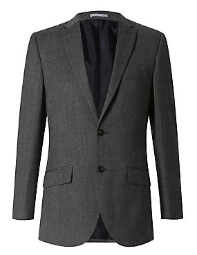 Grey Textured Slim Fit Suit Including Waistcoat