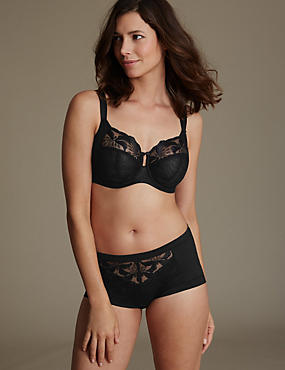 Hibiscus Embroidered Set with Underwired Full Cup DD-H