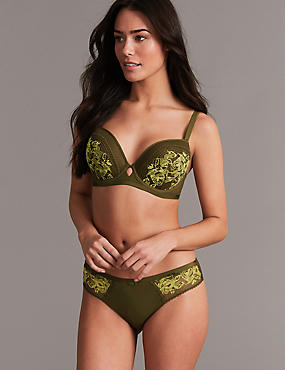Lace Set with Padded Balcony A- G, , catlanding