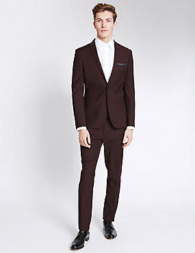Plum Modern Slim Suit
