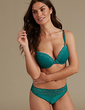 Padded Plunge Push-Up AA-E Set with Lace