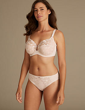 Non-Padded Set with Full Cup Bra DD-H, , catlanding
