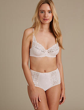 Floral Jacquard and Lace Set with Underwired