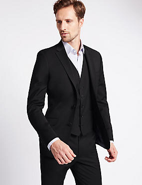 Charcoal Slim Fit Suit with Waistcoat
