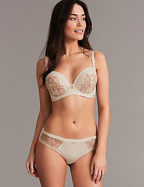Lace Set with Padded Balcony A- G , , catlanding