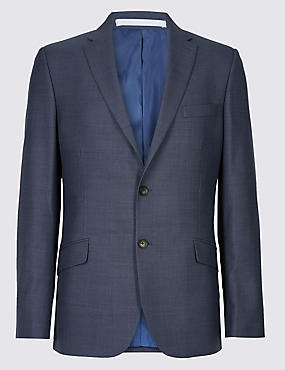 Big & Tall Blue Textured Slim Fit Suit