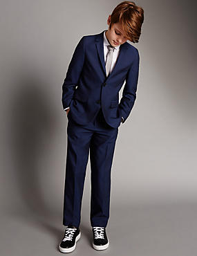 2 Button Notch Lapel Suit Including Waistcoat (5-14 Years)