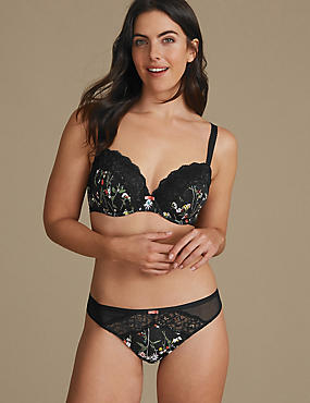 Floral Set with Padded Balcony A-E, , catlanding
