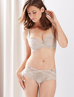 Silk & Lace Set with Non-Padded Underwired Balcony DD-G
