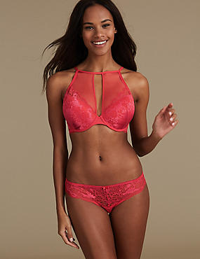 Lace Set with Plunge A-DD