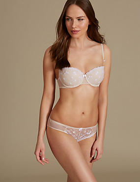 2 Pack Embroidered Set with Padded Push-up A-E