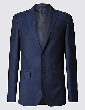 Blue Tailored Fit Suit with Buttonsafe™