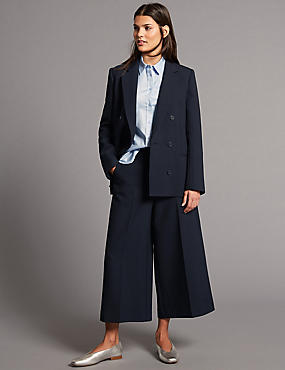 Blazer & Culottes Wide Leg Suit Set