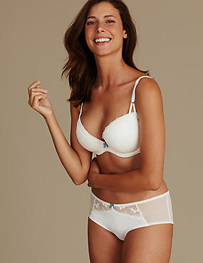 2 Pack Embroidered Set with Padded Plunge DD-G