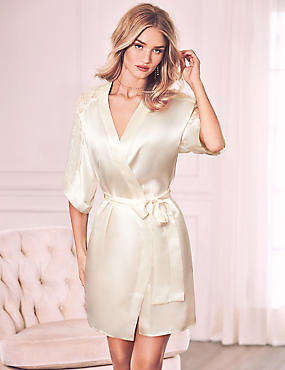 Pure Silk Dressing Gown & Chemise Set