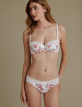 Mimi Lace Floral Set with Padded Balcony Push-Up A-E