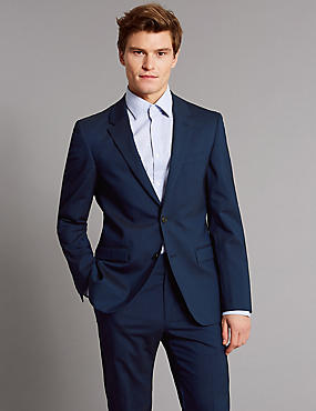 Tailored Fit Wool Rich with Stretch Suit, , catlanding