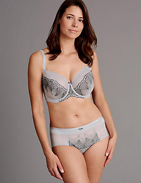 Embroidered Set with Non-Padded Balcony DD-G